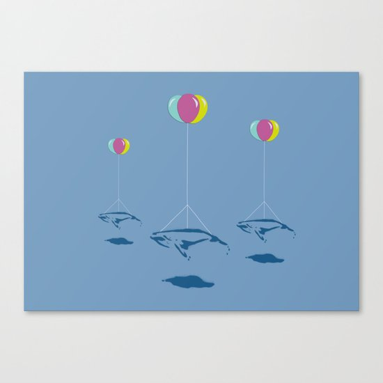 Whale Riders! Canvas Print
