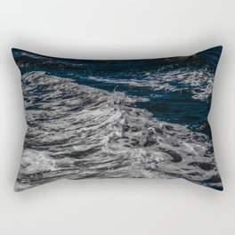 Snow Day - Sea foam on water in San Francisco Rectangular Pillow