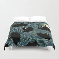 bats Duvet Covers featuring Bats by Rceeh