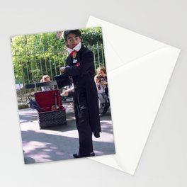 Parisian Mugshots - White Clown (Gueules de Parisiens) Stationery Cards