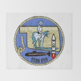 USS WILL ROGERS (SSBN-659) PATCH Throw Blanket