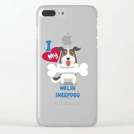 WELSH SHEEPDOG - I Love My WELSH SHEEPDOG Gift Clear iPhone Case
