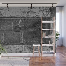 Lighthouse Iron Door Black and White Photography Wall Mural