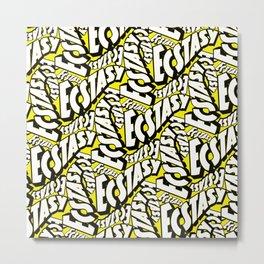 Feel - Bee - XTC Pattern Metal Print