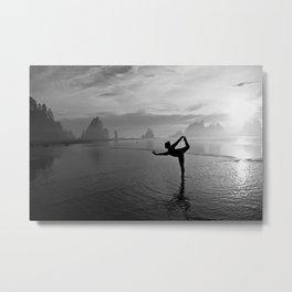 Yoga at Shi Shi Beach, Washington Metal Print