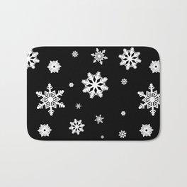 Snowflakes | Black & White Bath Mat
