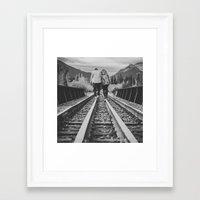 onward Framed Art Prints featuring Onward by Megan Curran