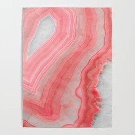 Coral Pink Agate  Poster
