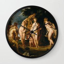 Peter Paul Rubens - The Judgment of Paris Wall Clock