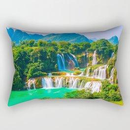 Ban Gioc Waterfall Detian Falls Vietnam Ultra HD Rectangular Pillow
