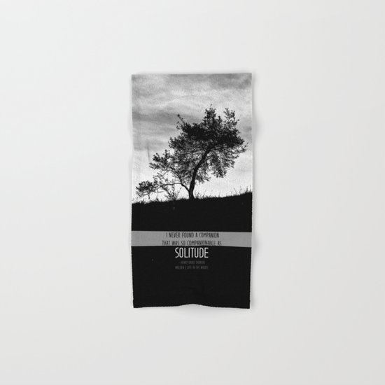 Henry David Thoreau - Solitude Hand & Bath Towel