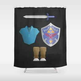 The Legend of Zelda  Ocarina of Time - Water Tunic Shower Curtain