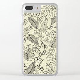 Tropical doodle Clear iPhone Case