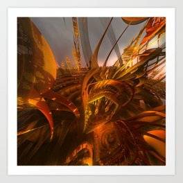 Chased By The Dragon Art Print