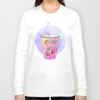 drink Long Sleeve T-shirts featuring Summer Drink by Sara Eshak