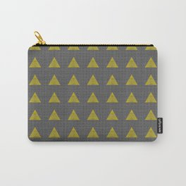 Minimalist Fractal Triangle Print Carry-All Pouch