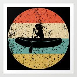 White Water Rafting Vintage Retro Rafter Art Print