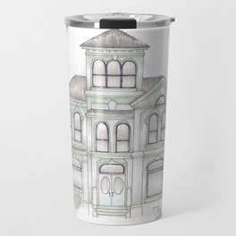 Green Italianate Victorian Travel Mug