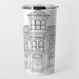 Green Italianate Victorian Travel Mug