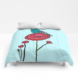 Bird and Poppy Comforters