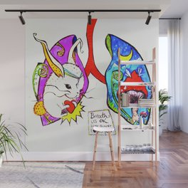 Breathe it's Ok! Some Bunny Loves You! Wall Mural