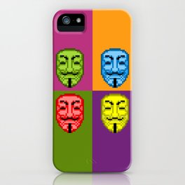 Pop Art Pixel Fawkes iPhone Case