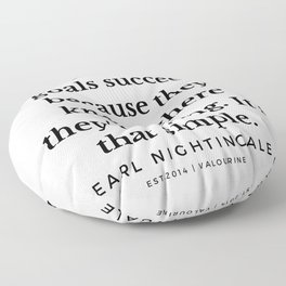 14  |  Earl Nightingale Quotes | 19082 Floor Pillow