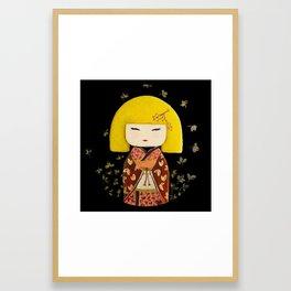 Yellow Kimi Framed Art Print