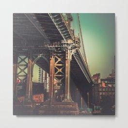 Infamous Brooklyn Bridge Metal Print