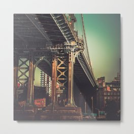 Infamous Brooklyn Bridge Metal Print