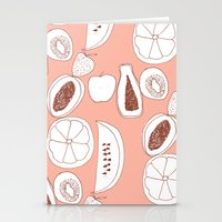 fruits Stationery Cards featuring Fruits by Bouffants and Broken Hearts