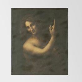 Leonardo da Vinci - Saint John the Baptist Throw Blanket