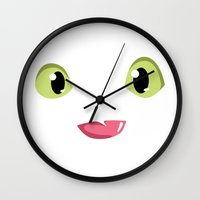 how to train your dragon Wall Clocks featuring How to train your dragon Toothless tongue by Komrod
