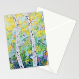 Dancing Birch Trees Stationery Cards