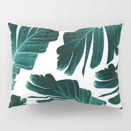 Tropical Banana Leaves Dream #1 #foliage #decor #art #society6 Pillow Sham
