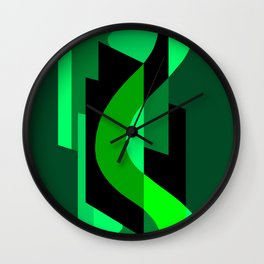 SUISSE - Art Deco Modern: NIGHT VISION Wall Clock