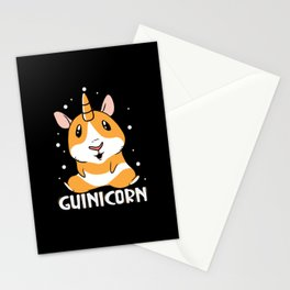 Guinicorn funny Unicorn design animal kids Stationery Cards