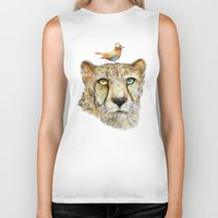 cheetah Biker Tanks featuring Cheetah by dogooder