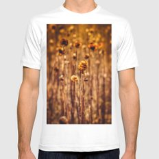 Sunflower Heads in the Winter Sun Mens Fitted Tee White SMALL