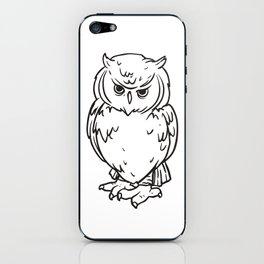 OWL - Black & White iPhone Skin