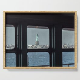 Statue of Liberty from the ferry Serving Tray