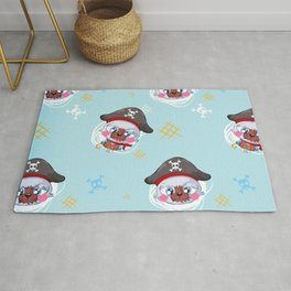 cute pirate Rug