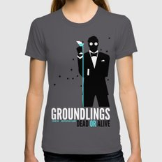 Groundlings: Dead or Alive Commemorative Shirt Womens Fitted Tee LARGE Asphalt