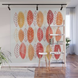 Fall Leaves Pattern Wall Mural