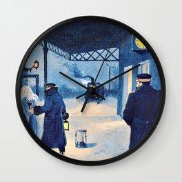 Paul Gustav Fischer - The Last Train - Digital Remastered Edition Wall Clock