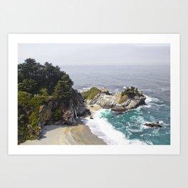 California Waterfall on the Beach Art Print