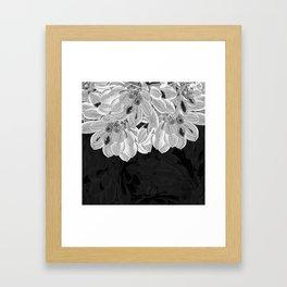Elegant Black and White Flowers Design Framed Art Print