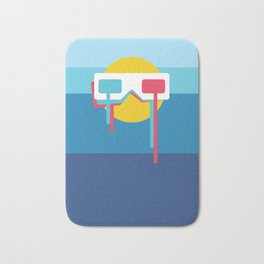 3D Sun Glasses Bath Mat