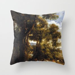 John Constable Landscape with Goatherd and Goats Throw Pillow
