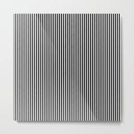 Classic Black and White Pinstripe Pattern Metal Print